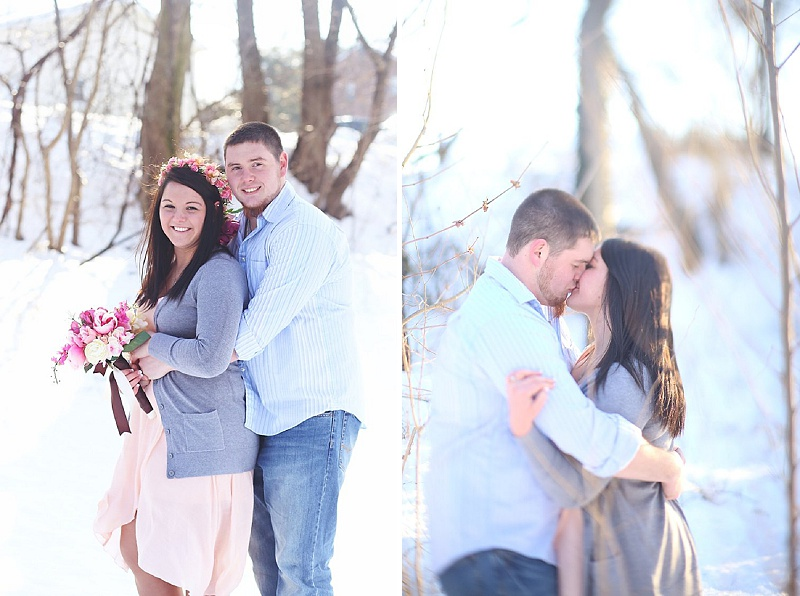 snow styled engagement pictures