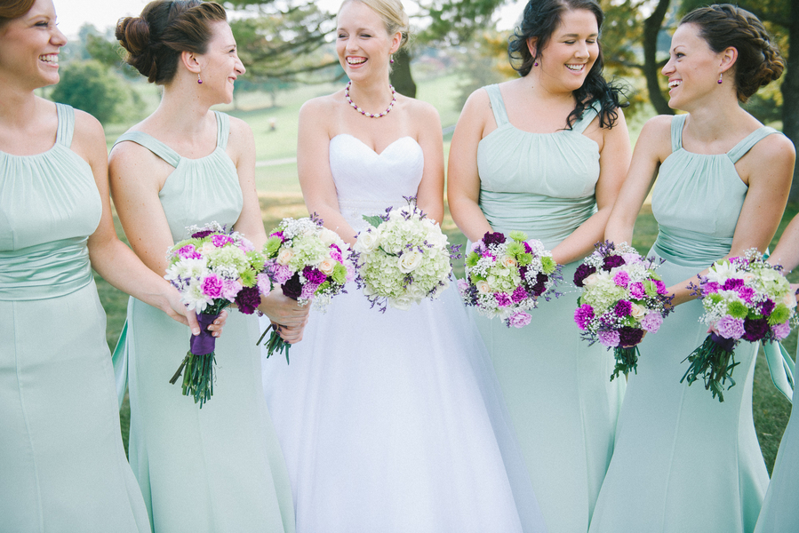 mismatched mint green bridesmaids dresses