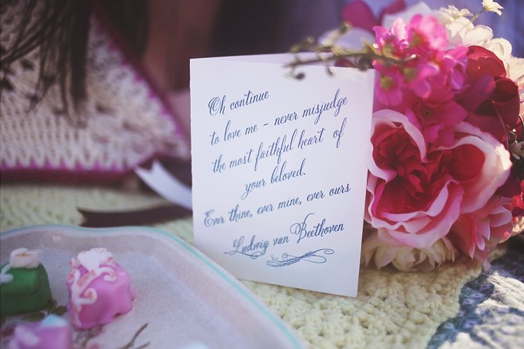 calligraphy love notes