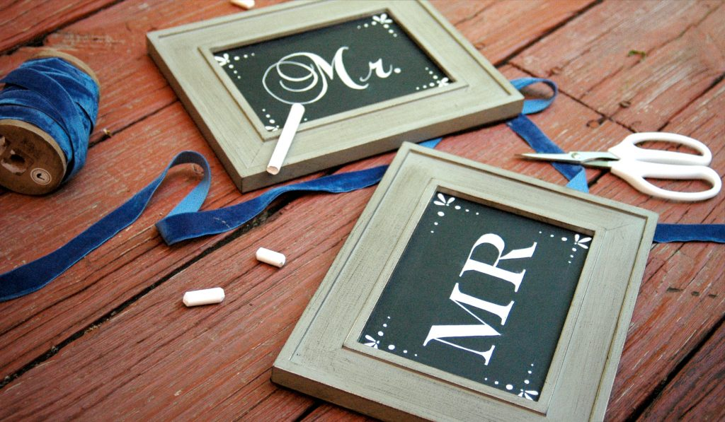 how to make chalkboard signs for wedding