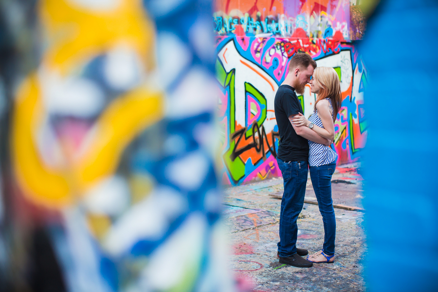 alternative grunge Maryland graffiti engagement pictures (11)