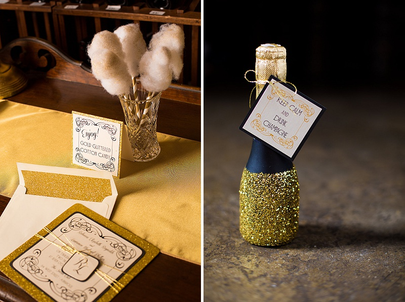glitter gold 1920s speakeasy themed wedding (10)