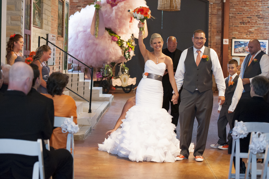 modern gray orange baltimore maryland wedding american visionary arts museum (13)
