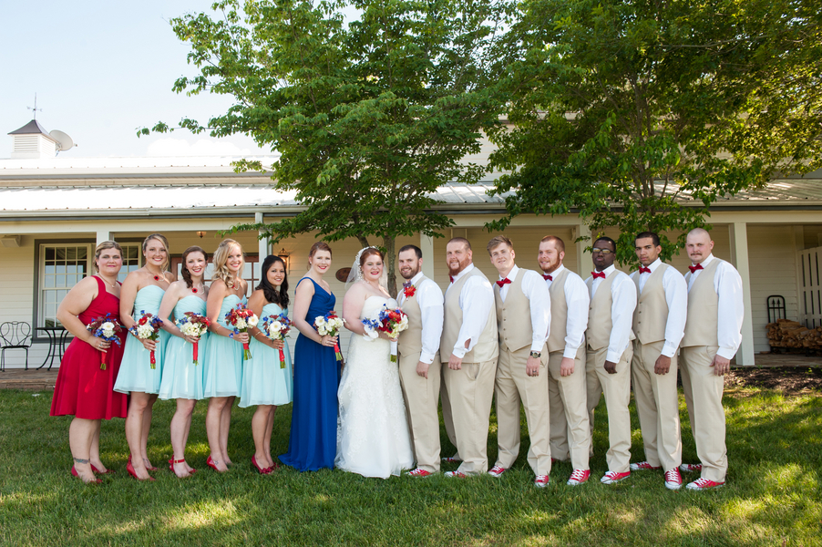 rustic DIY red white blue Virginia wedding (10)