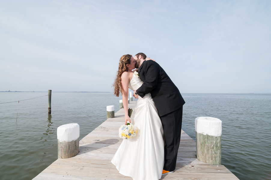 waterfront maryland wedding beach themed (6)