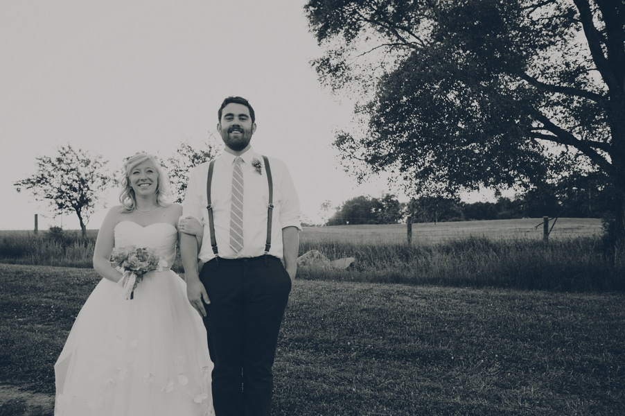 thrift store travel themed barn wedding virginia pictures (12)
