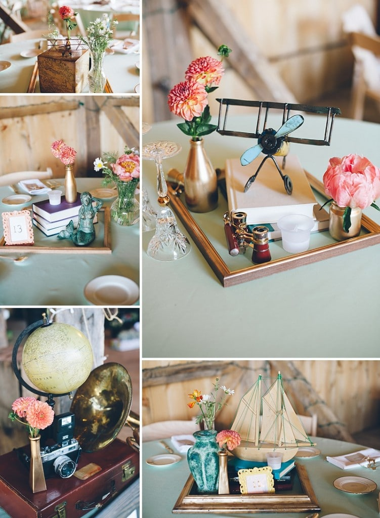thrift store travel themed barn wedding virginia pictures (18)