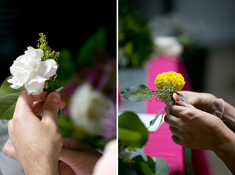 DIY bouquets and boutonniers workshop (10)