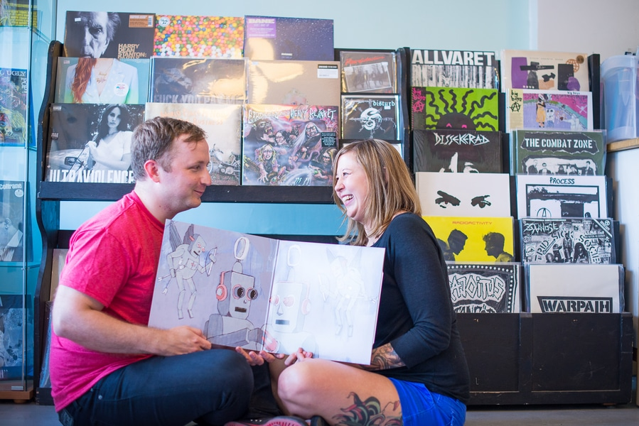 baltimore MD record store engagement pictures (5)