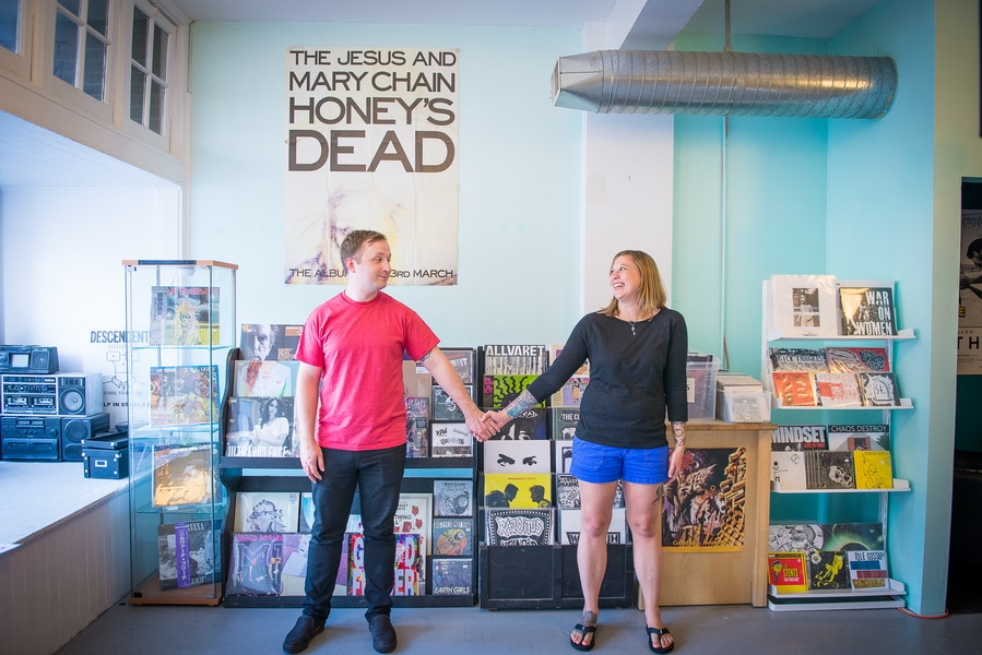 baltimore MD record store engagement pictures (6)