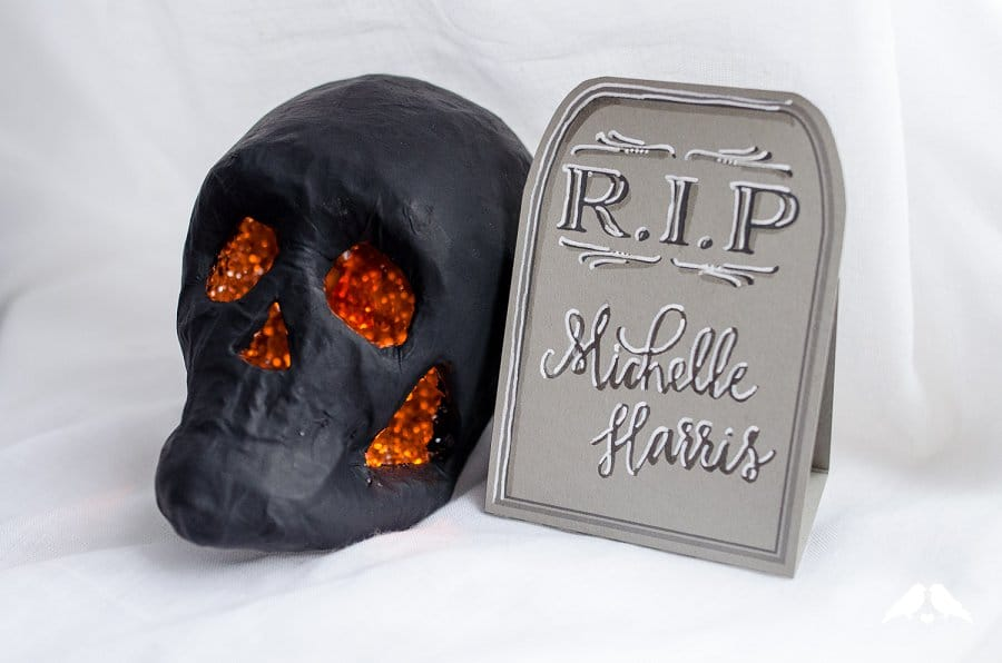 DIY halloween tombstone placecard tutorial