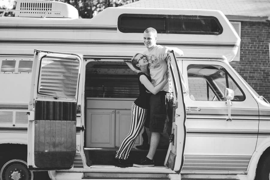 offbeat alternative engagement pictures vintage trailer (2)