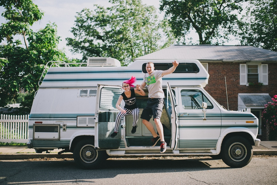 offbeat alternative engagement pictures vintage trailer (4)