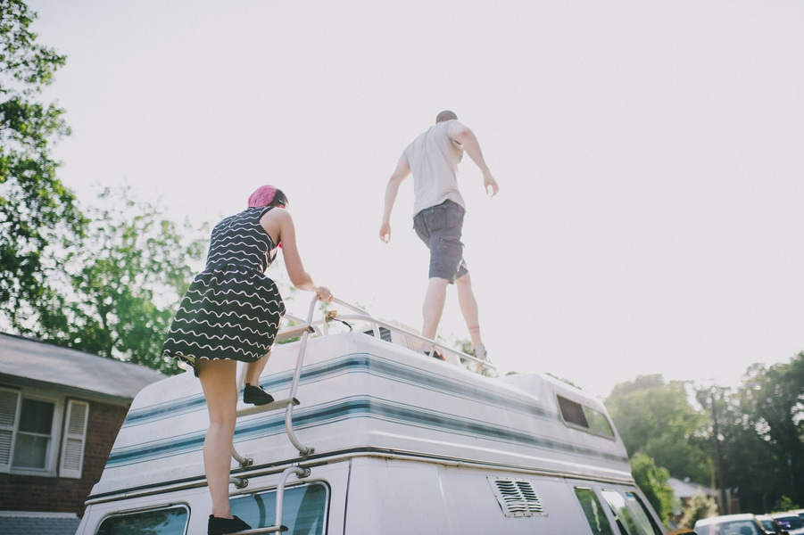 offbeat alternative engagement pictures vintage trailer (8)