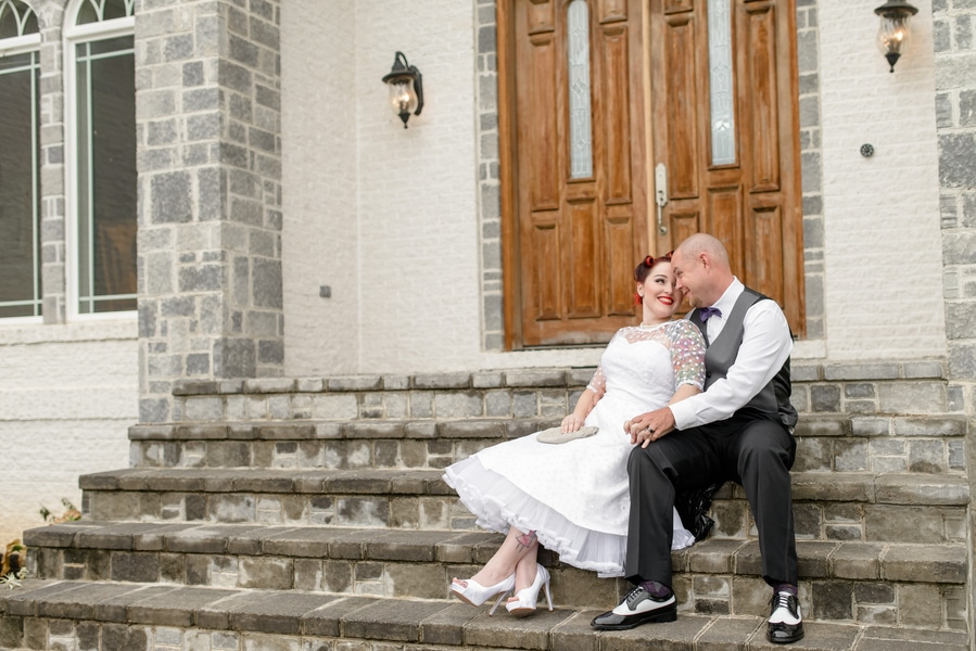 rockabilly rock and roll virginia wedding pictures (9)