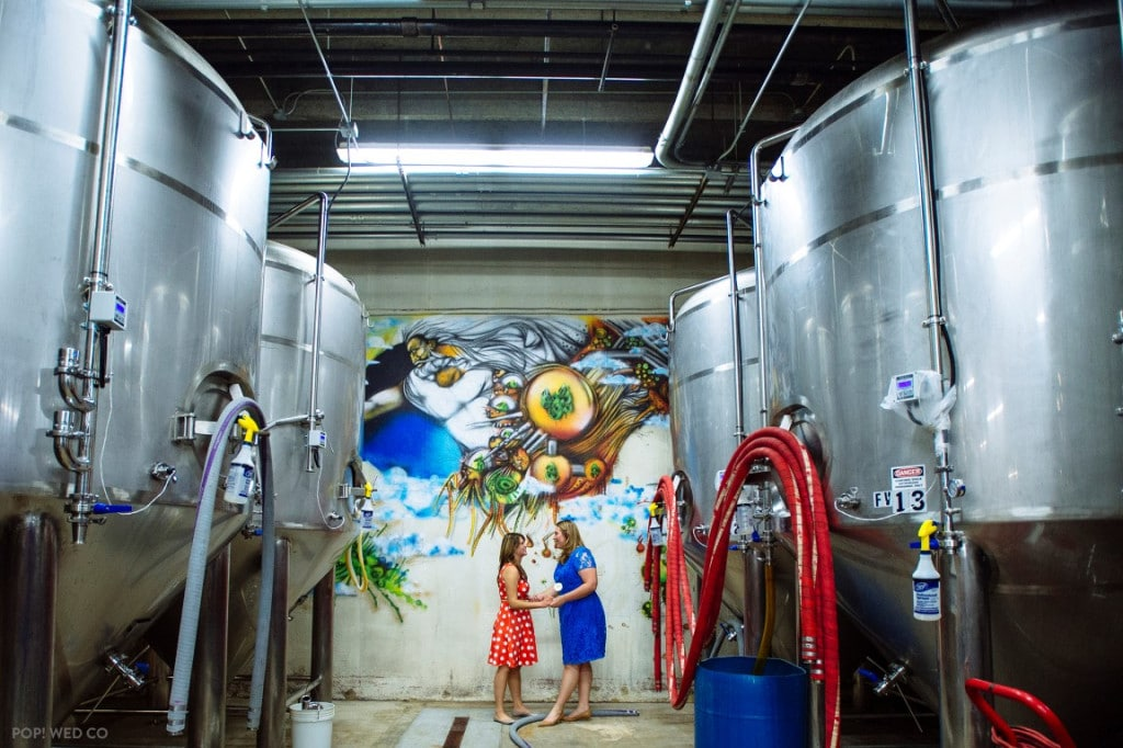 offbeat intimate washington dc wedding at brewery (22)
