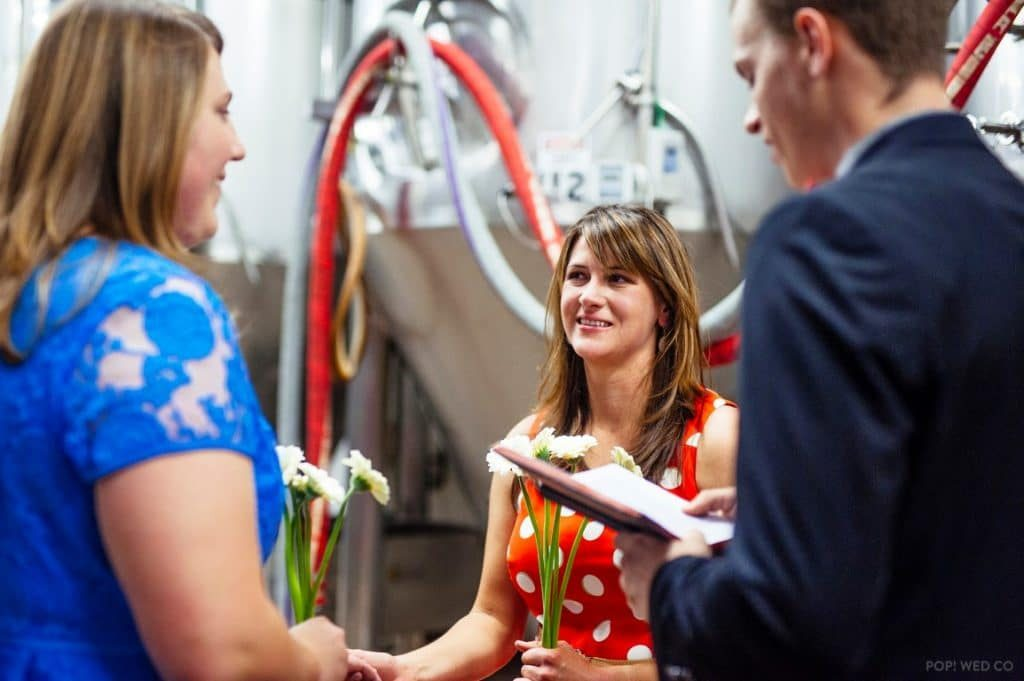 offbeat intimate washington dc wedding at brewery (4)