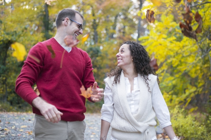 Fall engagement pictures Washington DC national arboretum (1)