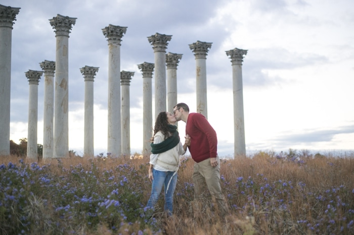 Fall engagement pictures Washington DC national arboretum (7)