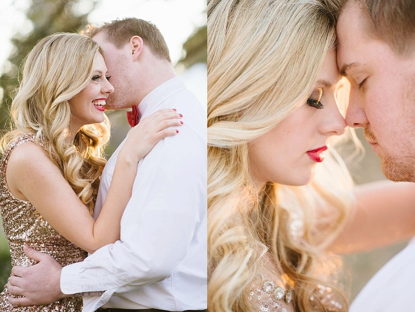 modern glitter gold red valentines day wedding pictures (4)