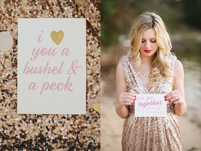 modern glitter gold red valentines day wedding pictures (6)