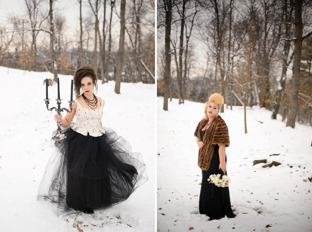 vintage gothic snow bridal inspiration pictures (6) (Medium)