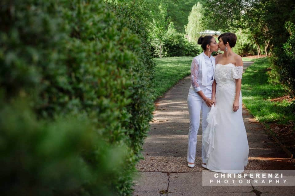 modern same sex lesbian bride white suit style gown (13)