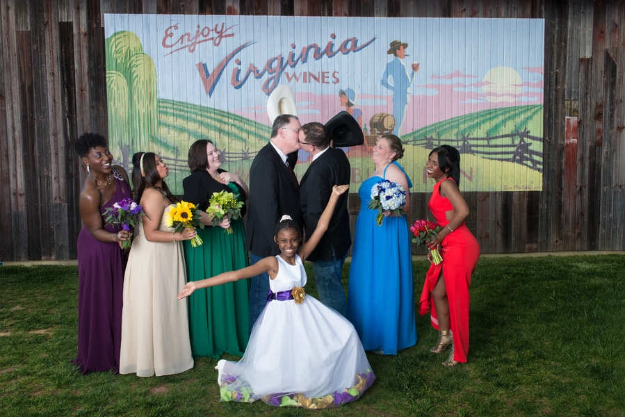 intimate same sex bull run winery wedding in virginia (9)