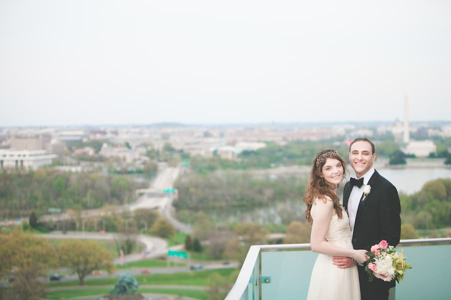 DIY cherry blossom theme DC wedding at Top of the Town (7)
