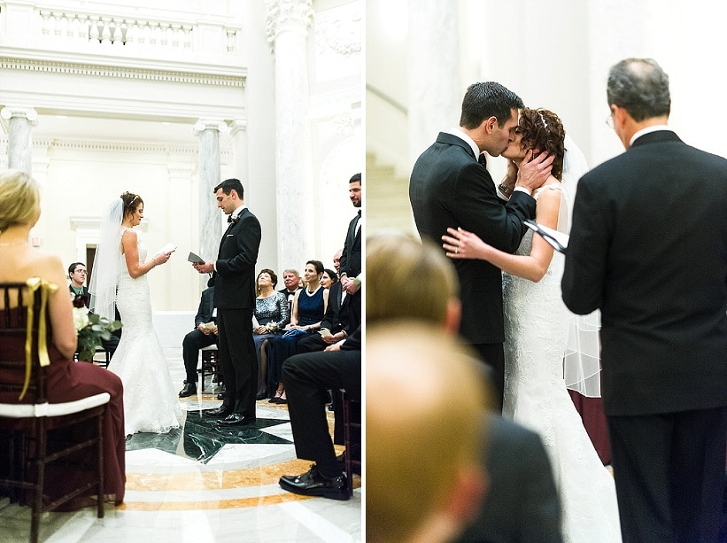 classy gold themed Washington DC wedding Carnegie Institute Science pictures (5)