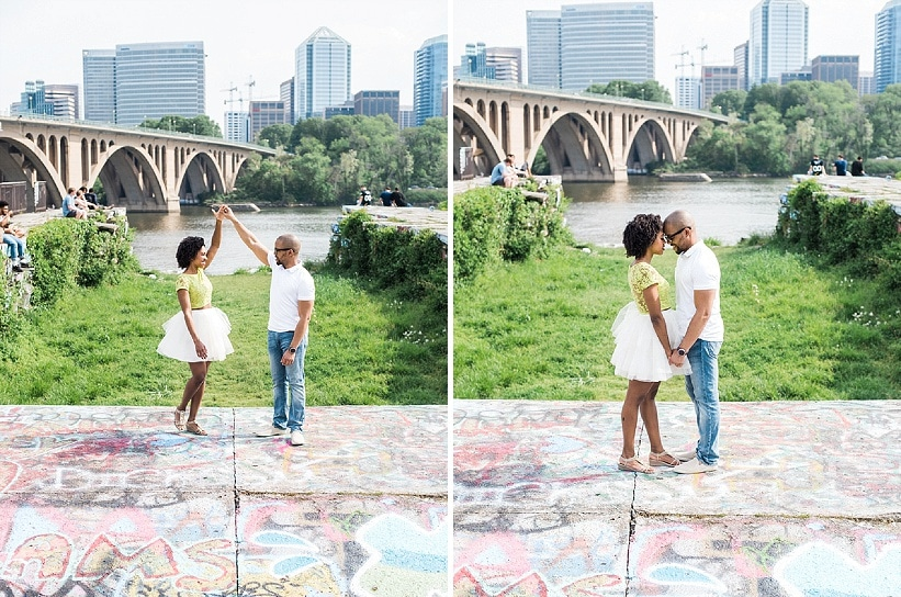 fun DC area engagement pictures busboys and poets Shirlington (2)