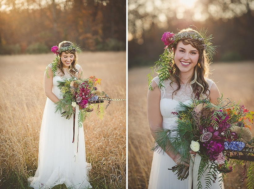 modern organic bohemian wedding bridal pictures (2)