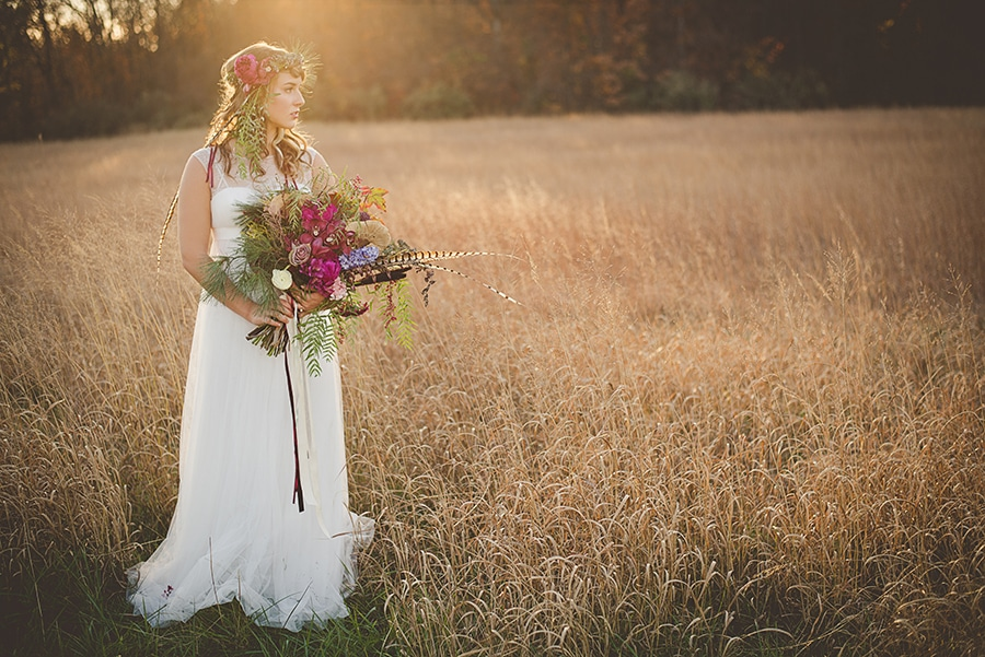 modern organic bohemian wedding bridal pictures (4)