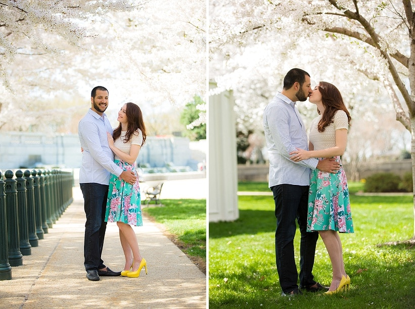 modern cherry blossom engagement pictures washington dc (2)