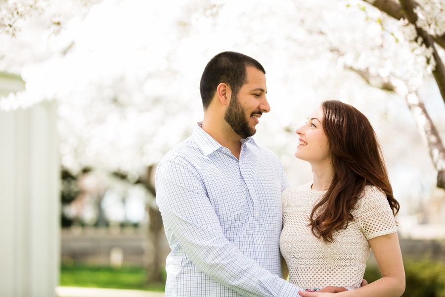 modern cherry blossom engagement pictures washington dc (3)