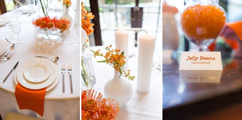 modern same sex orange themed DC wedding (6)