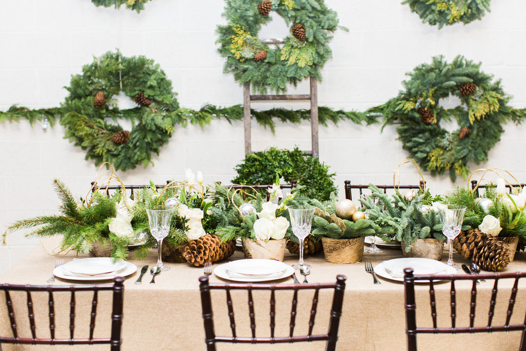 Winter Wedding Ideas Wreaths As Bouquets Pinecone Decorations