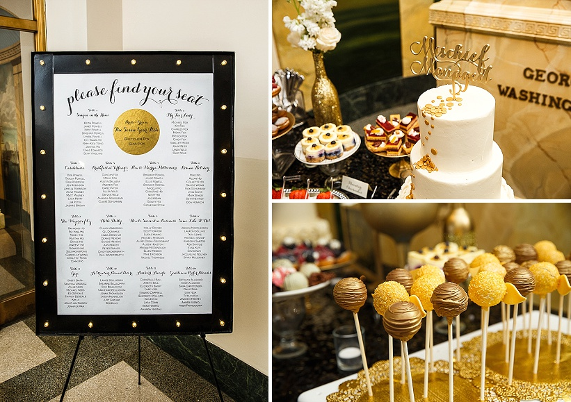 diy gold white winter harry potter themed wedding (8)