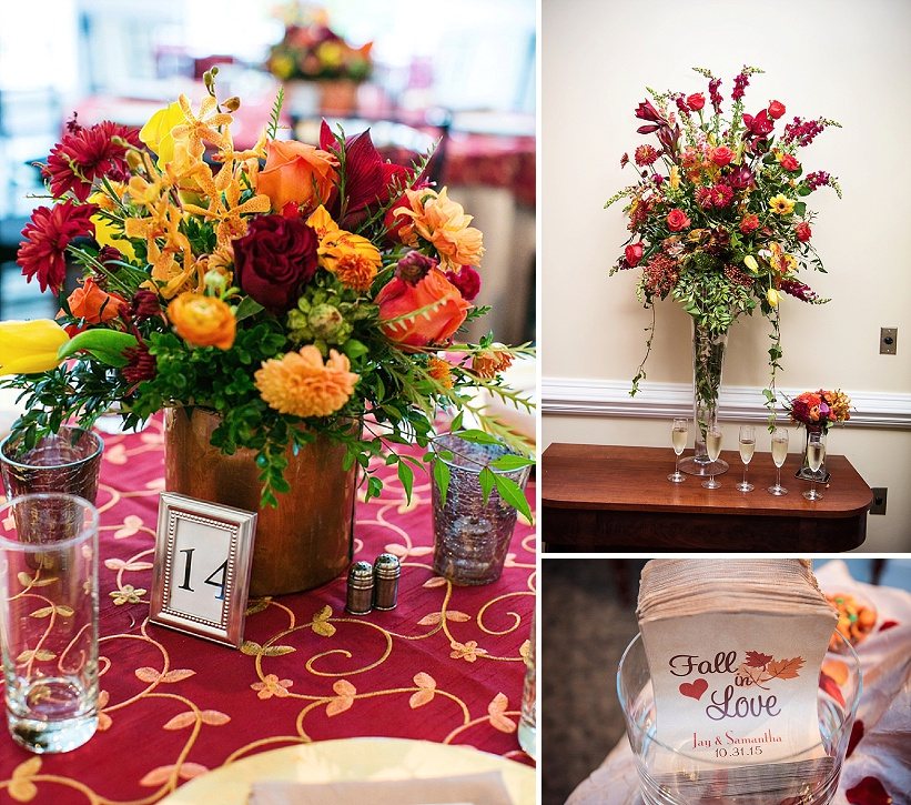 multicultural indian american virginia winery wedding fall themed winery at fine creek (11)