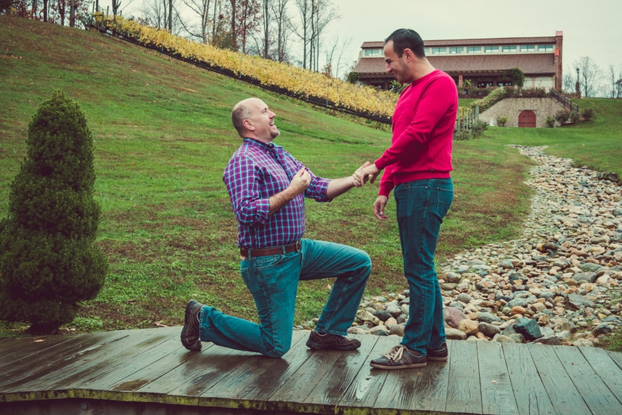 surprise virginia winery proposal same sex (1)