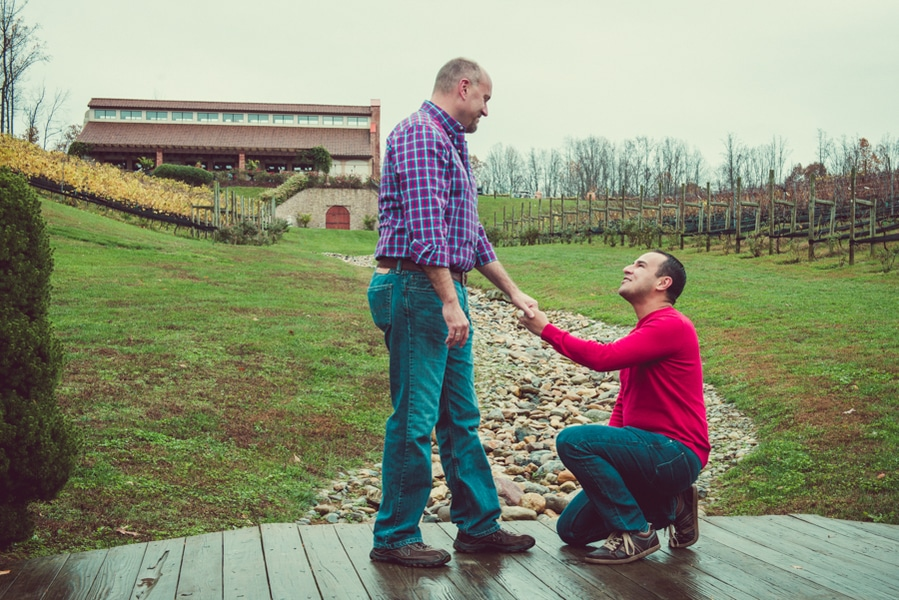 surprise virginia winery proposal same sex (6)