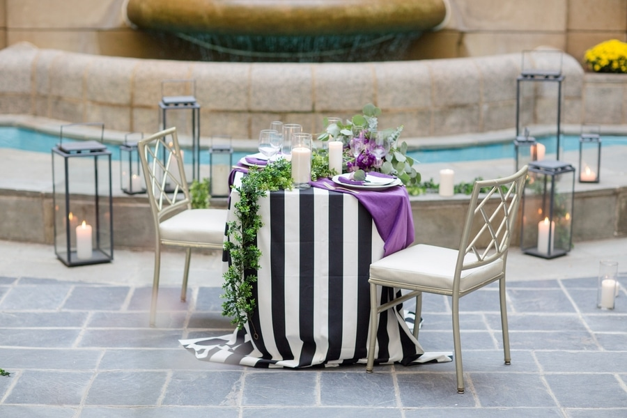 intimate DC elopement romantic purple wedding details decorations (2)
