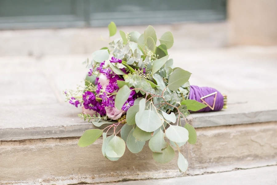 intimate DC elopement romantic purple wedding details decorations (3)
