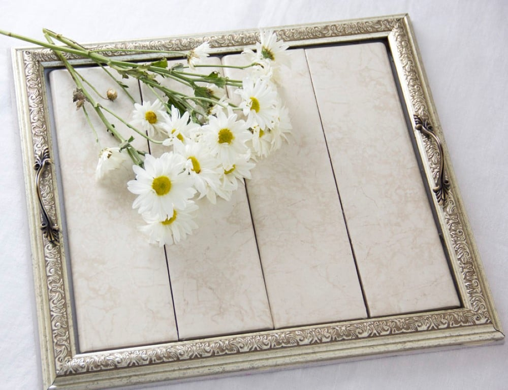 Bride to be guest blog diy serving tray tutorial using frames diy wood frame serving tray tutorial 26 solutioingenieria Images