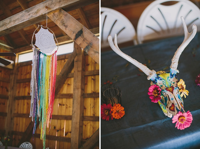 festival themed DIY rainbox colorful west virginia wedding (10)