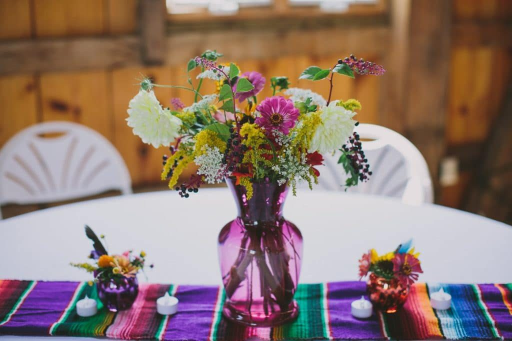 festival themed DIY rainbox colorful west virginia wedding (21)