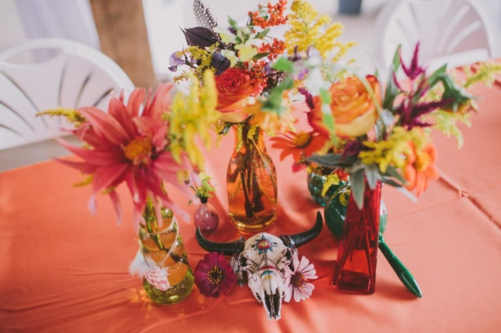 festival themed DIY rainbox colorful west virginia wedding (23)
