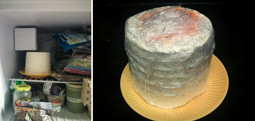 How To Freeze Your Wedding Cake 4