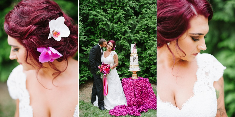 raspberry-and-gold-wedding-inspiration-tattooed-bride7