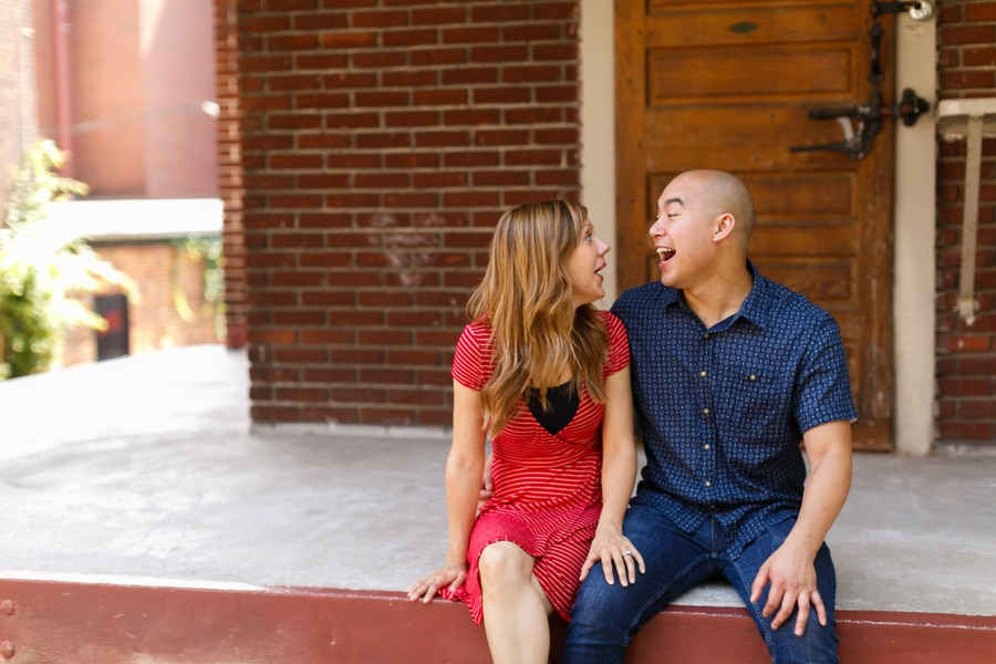 quirky fun casual alexandria virginia engagement pictures4